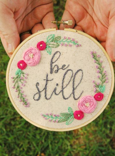 Be Still – New Hoop Art